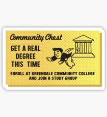 Community (TV) - Community Chest Sticker