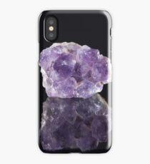 Natural Raw Purple Amethyst iPhone Case/Skin