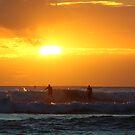 Surfers on sunset by kurtolo