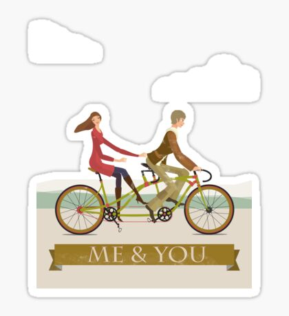 Me & You Bike Sticker