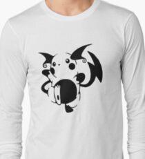 Raichu Black Long Sleeve T-Shirt