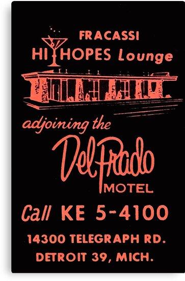 Vintage Detroit Del Prado Motel Ad by The Detroit Room