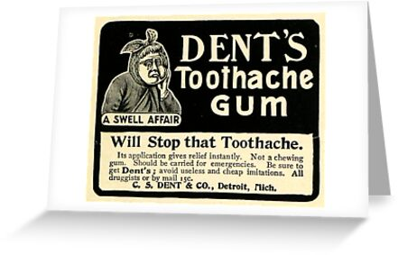 Vintage Detroit Ad for Dent's Toothache Gum by The Detroit Room