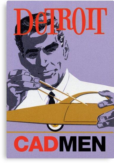 Vintage Detroit Designer CAD Men by The Detroit Room