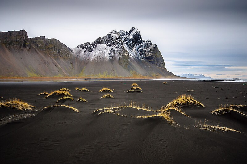Quot Black Sand Beach Iceland Quot By Dean Bailey Redbubble