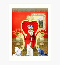 King Leo and his Royal Subjects Art Print