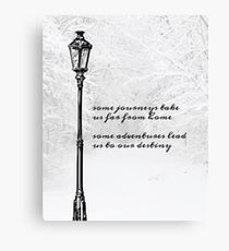 Narnia Lamp Post Canvas Print