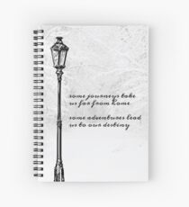 Narnia Lamp Post Spiral Notebook