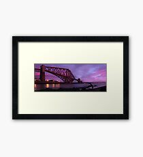 Sunset of the Forth Rail Bridge Framed Print