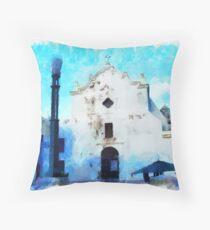 Old San Juan Church Throw Pillow