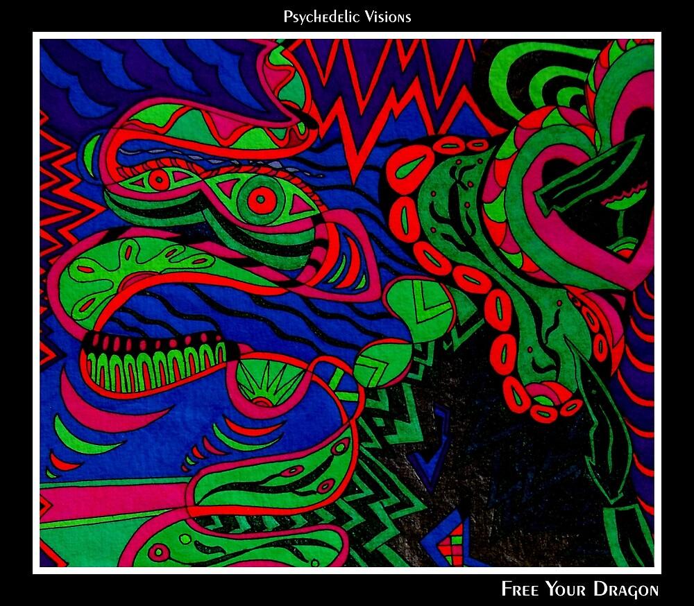 Free Your Dragon Black Ligth by MonicaDias