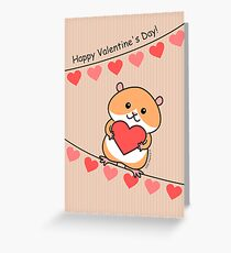 Cute Hamster Valentine Greeting Card