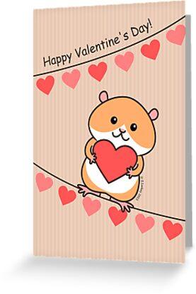 Cute Hamster Valentine by Zoe Lathey
