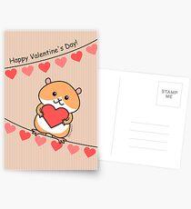 Cute Hamster Valentine Postcards