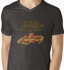 Loyalty, Honour, a willing heart. T-Shirt
