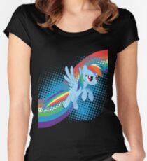 Rainbow DASH! Women's Fitted Scoop T-Shirt