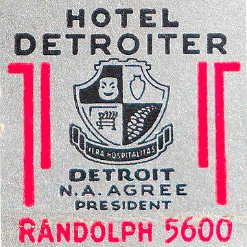 Vintage Detroit Hotel Detroiter Ad by krawlspace