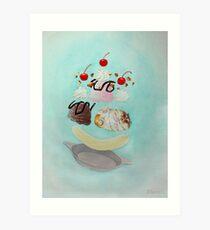 Hamster Sundae! Art Print