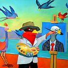 Painting portrait of Mr. Swan by Guntis Jansons