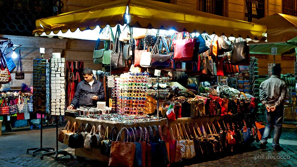 Bags Stall  by phil decocco