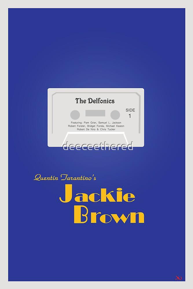 Original Jackie Brown Minimalist Movie Poster by deeceethered
