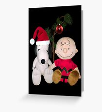 SNOOPY & CHARLIE BROWN FESTIVE CHRISTMAS-JOURNAL.. PICTURE AND OR CARD ECT Greeting Card
