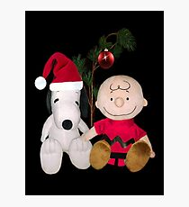 SNOOPY & CHARLIE BROWN FESTIVE CHRISTMAS-JOURNAL.. PICTURE AND OR CARD ECT Photographic Print