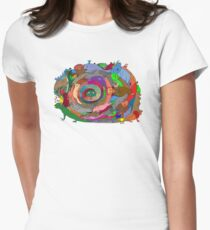 Rainbow Serpent Womens Fitted T-Shirt