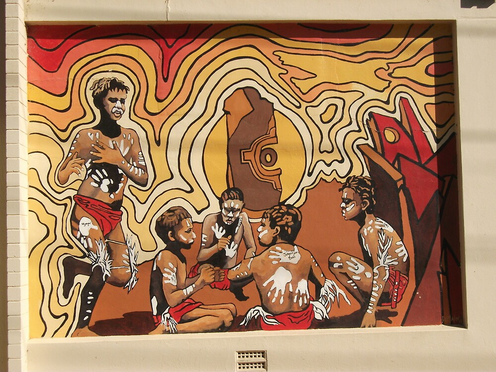 Broken Hill mural by Geoff De Main, h by Heather Dart
