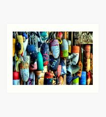Buoys and Props Art Print