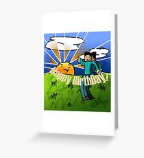 Minecraft Birthday Card Greeting Card