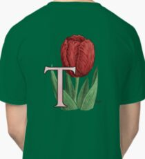 T is for Tulip - floating Classic T-Shirt