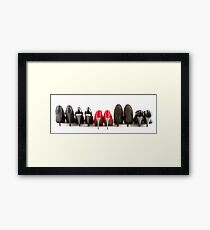 High heels red and black Framed Print