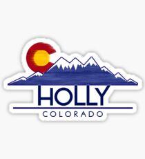Holly Colorado wood mountains Sticker