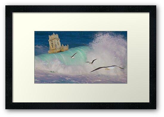 Belém Tower decided to leave. A partida da Torre de Belém. iPad by terezadelpilar ~ art & architecture