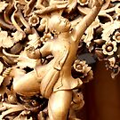 Detail from a Buddhist pagoda Burma/ Myanmar  by Peter Voerman