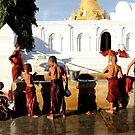 Young monks in Burma/ Myanmar by Peter Voerman