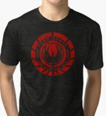 Frak Earth / So Say We All - BSG Tri-blend T-Shirt