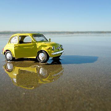 Fiat Cinquecento on the beach by monsieurI