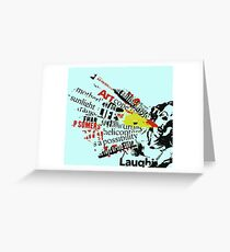 speech therapy review Greeting Card