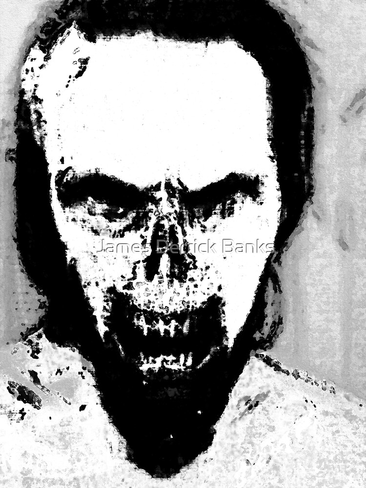 Black and White Zombie Portrait by James Derrick Banks