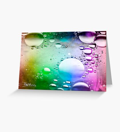 Oil on Water Greeting Card
