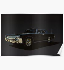 1961 Lincoln Continental Poster
