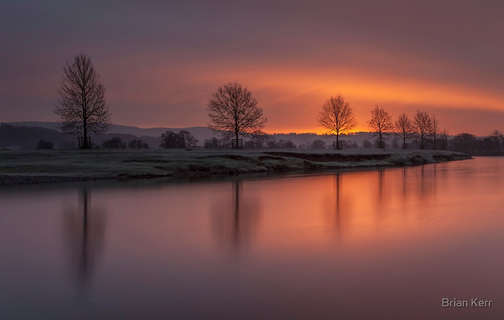 Sunrise Over The River Eden by Brian Kerr