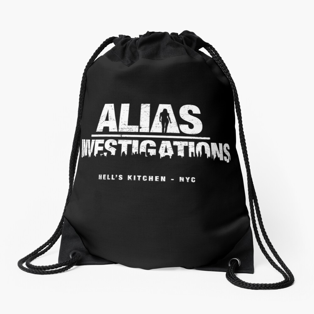 Alias Investigations (aged look) Drawstring Bag