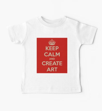 Keep Calm and Create Art Kids Clothes