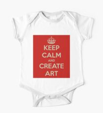 Keep Calm and Create Art One Piece - Short Sleeve