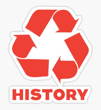 Recycle History Sticker