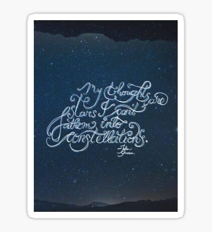 Thoughts Are Stars Sticker