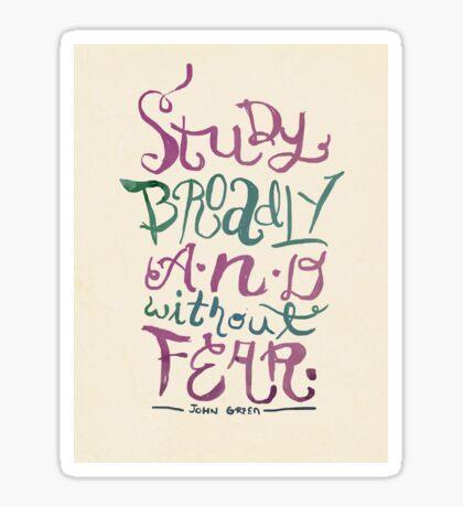 Study Broadly Sticker